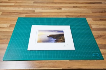 An image of the finished Matted Fine Art Print in a protective clear plastic bag from John Dunne Photography