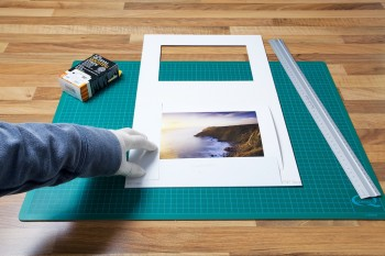 An image of the print laid flat on the under-mount from John Dunne Photography