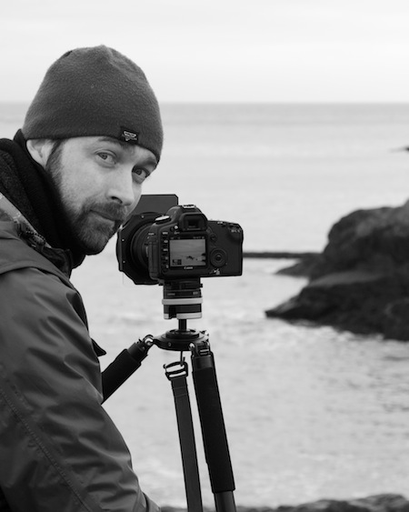 John Dunne shooting sunrise at Naylor's Cove in Wicklow, Ireland